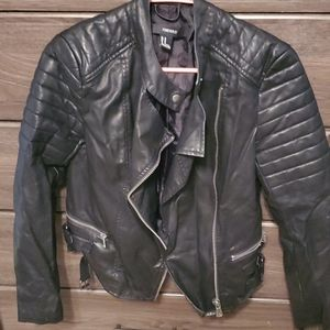 Forever 21 punk biker faux leather jacker